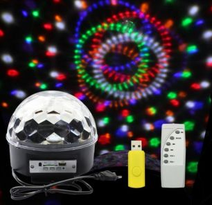 Диско шар Magic Ball Light MP3 с флешкой (светомузыка)
