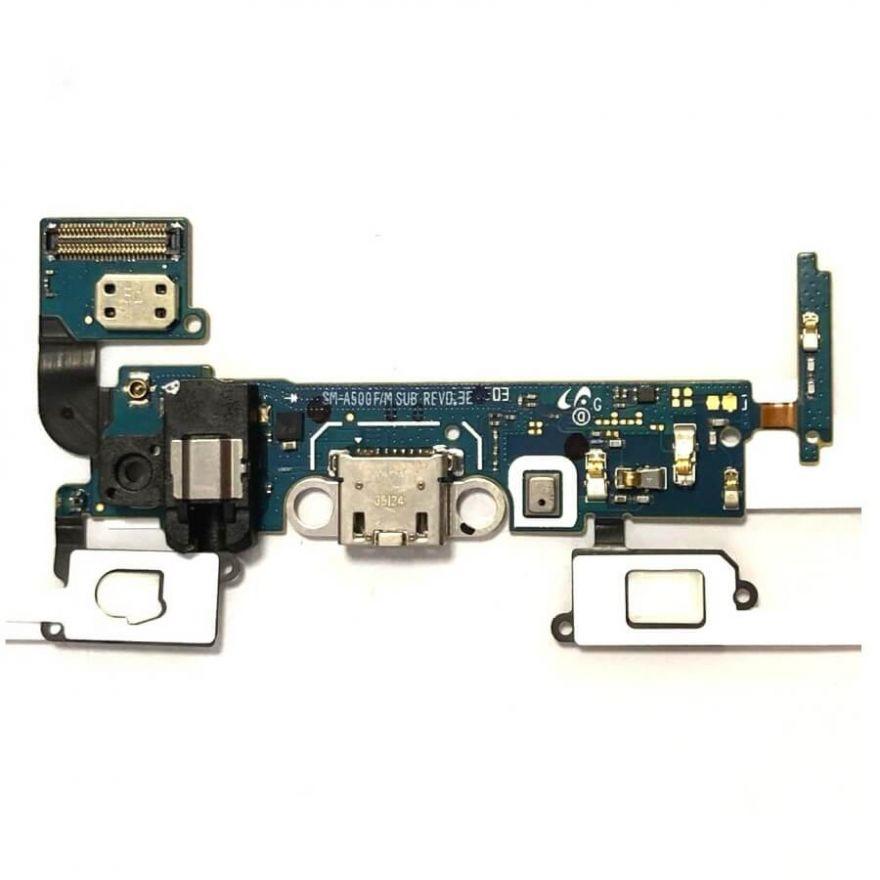 Шлейф с разъемом зарядки для Samsung Galaxy A5 A500F + микрофон + нижняя плата (копия AAA)