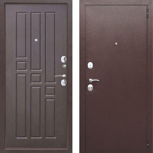 Входная дверь ГАРДА МУАР 8 мм (венге) антик