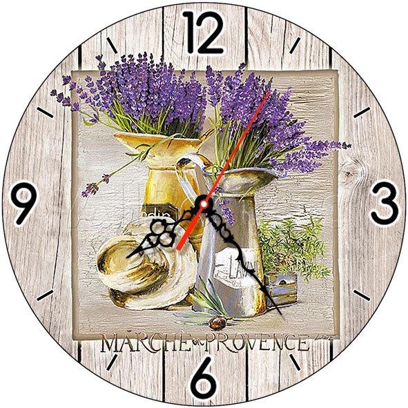 Часы деревянные ЛАВАНДА ПРОВАНС ЧС-02.01