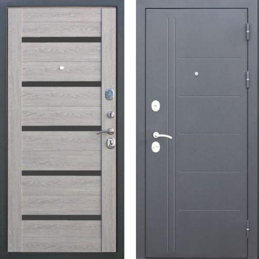 Входная дверь ТРОЯ 10 см (дымчатый дуб)