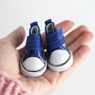 Обувь для кукол - куды 5 см (синие)