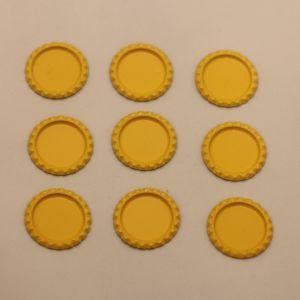 БРАК Крышка. Материал - металл. Внутренний диаметр 25 мм, наружный - 31 мм, Цвет №37 (1 уп. = 24 шт)