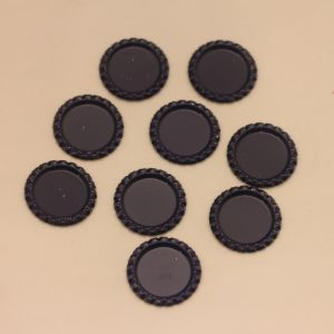 БРАК Крышка. материал - металл. внутренний диаметр 25 мм. наружный 31 мм, цвет №46 . (1 уп = 24 шт)