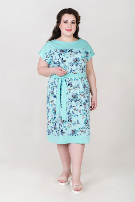 Платье арт.0912 ментол, кулирка