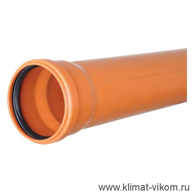 Труба ф160 l=0.5 м рыжая толщ.ст.4.9
