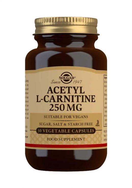 Ацетил-л-карнитин 250 мг, 30 капс
