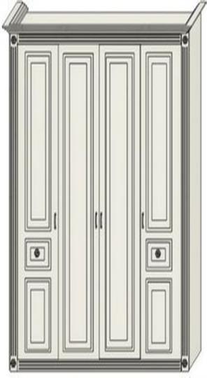 Шкаф двухдверный платяной с двумя пилястрами