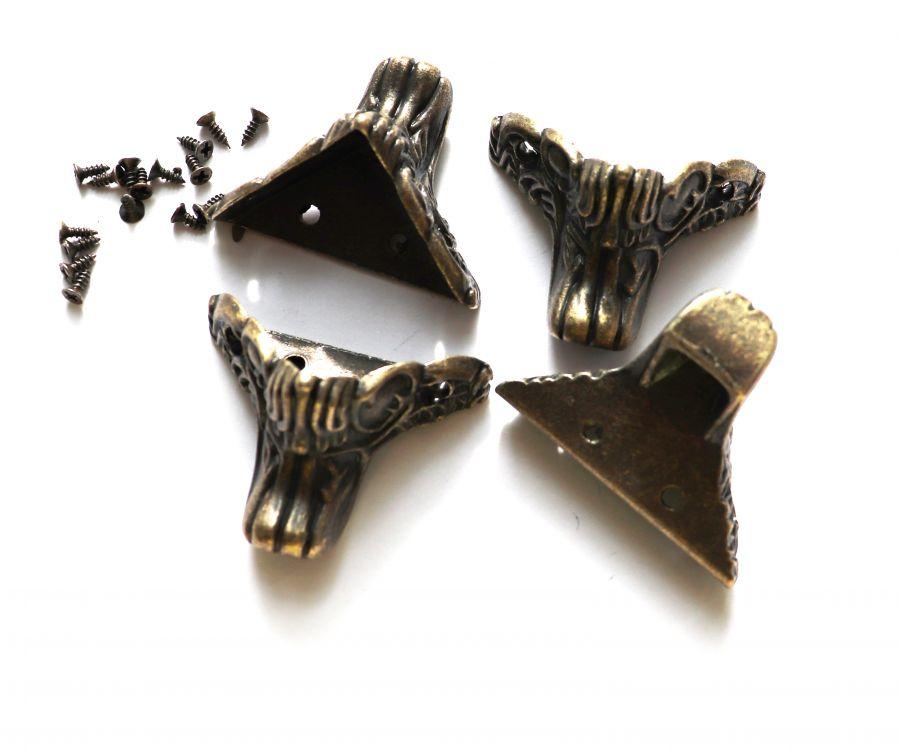 Ножка для шкатулки Лапа грифона, цвет бронза, 35*35*25 мм, 4 шт/упак