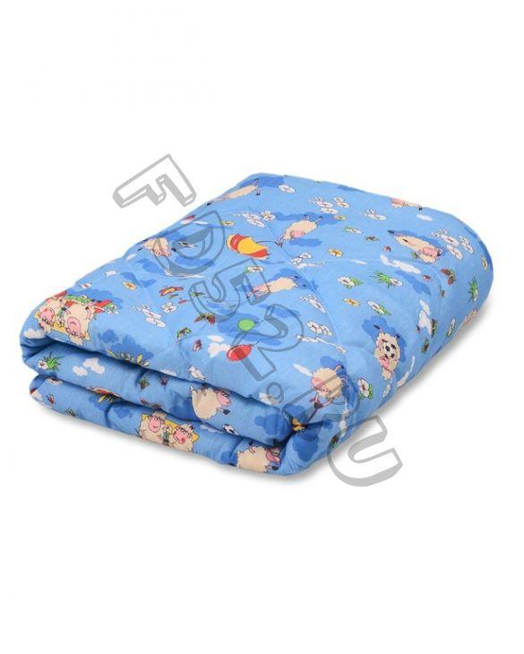 Одеяло детское синтепон 110х140 цветное (пл. 300 гр/м), чехол полисатин/чехол бязь