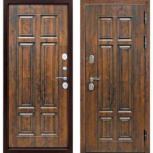 Входная дверь 13 см Isoterma мдф/мдф грец. орех