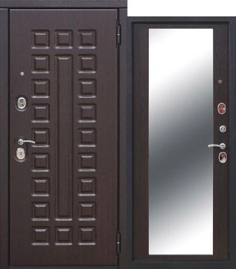 Входная дверь 10 см Монарх зеркало Венге
