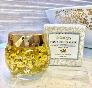 100 шт Ночная увлажняющая маска для лица  с Золотым османтусом ,120 гр