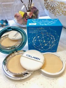 Пудра Collagen Premium Hydro Two Cake SPF 50+/PA++ с запасным блоком