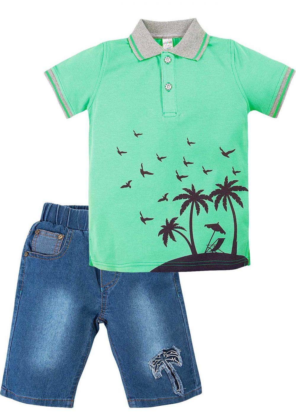 Костюм для мальчика Bonito зеленый