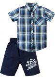 Костюм для мальчика 2-5 лет рубашка и шорты Bonito синий