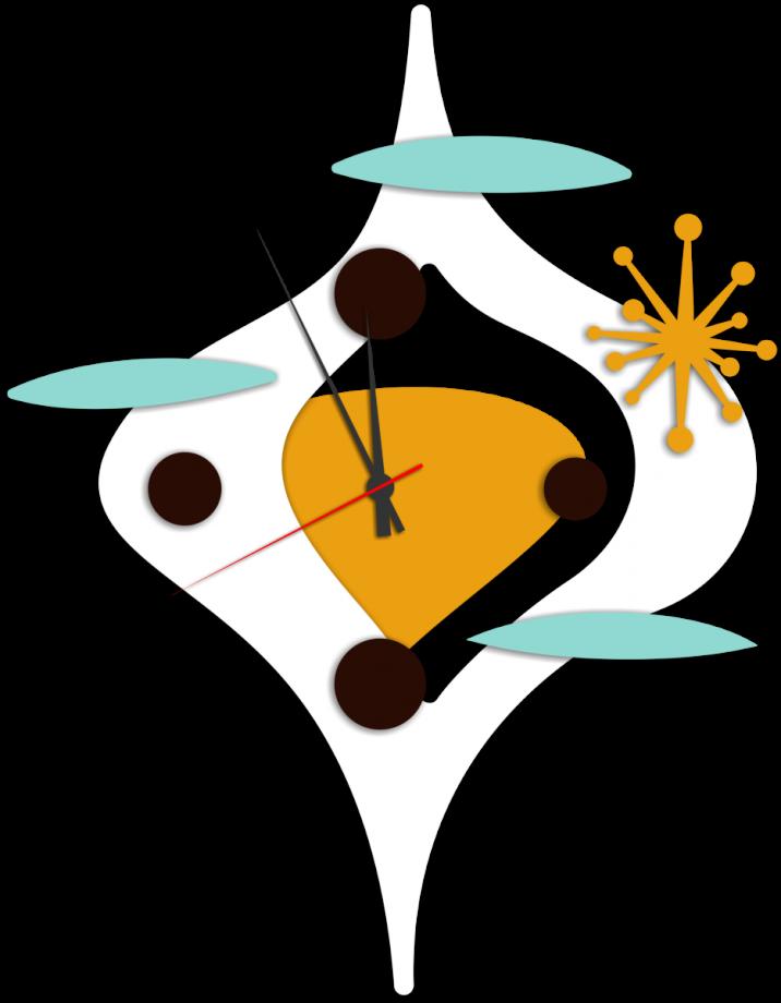 Часы настенные абстракция малые