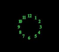 Часы настенные в виде монограммы (герба)