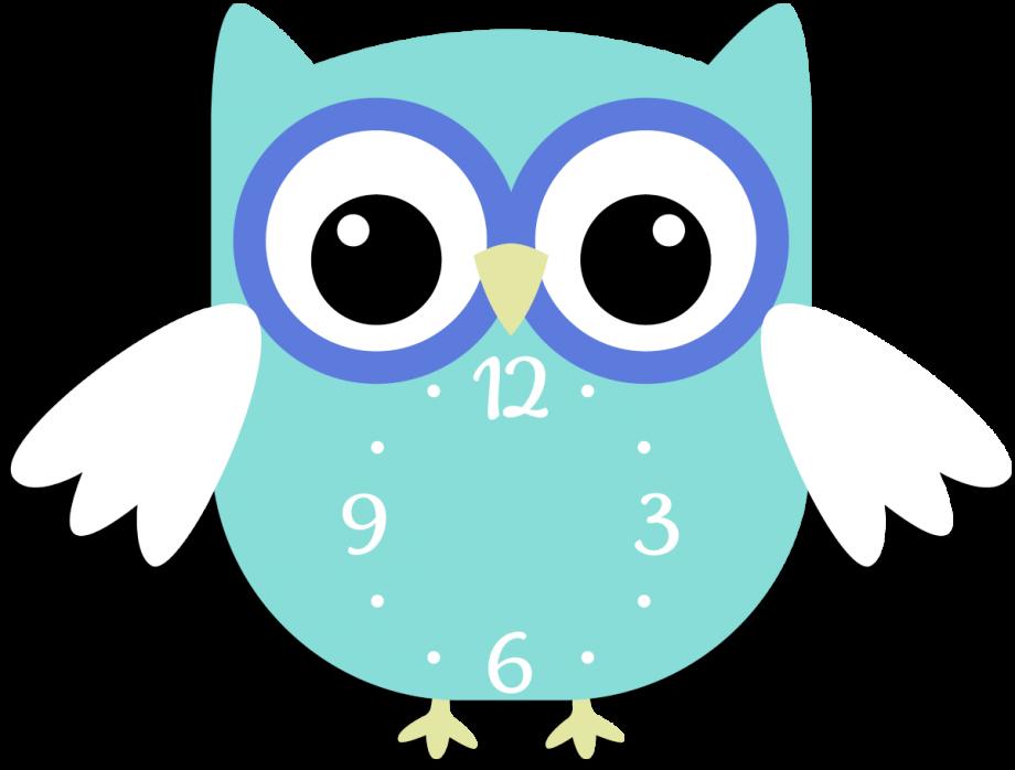 Часы настенные сова цветная