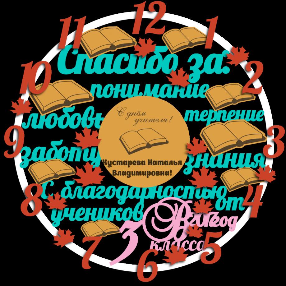 Часы настенные с днем учителя