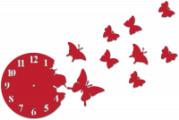 Часы настенные с бабочками