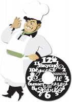 Часы настенные для кухни с поваром