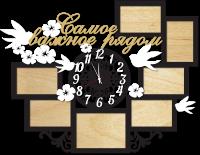 Часы настенные с фоторамками важное рядом