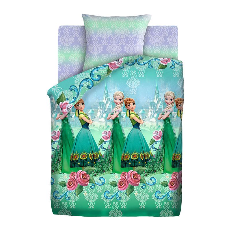 """Детское постельное белье """"Анна и Эльза"""", рис.16037-1-16038-1 (Холодноесердце), 1.5сп."""