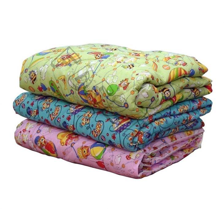 Одеяло детское  холлофайбер 110*140, пл. 150 гр, чехол бязь