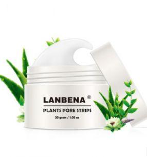 Lanbena plant pore strips - Крем-маска от черных точек (НОВАЯ УПАКОВКА).(0021)