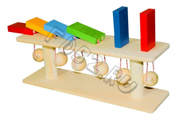"""Тактильно-развивающая панель """"Разноцветное домино"""" (6 домино)"""
