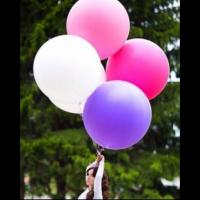 "Олимпийский шар 36"" Пастель белый 80 см с гелием"