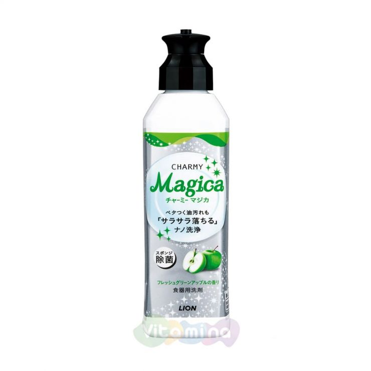 """Lion Средство для мытья посуды """"Charmy Magica"""" (концентрированное, с ароматом зеленого яблока) 220мл"""