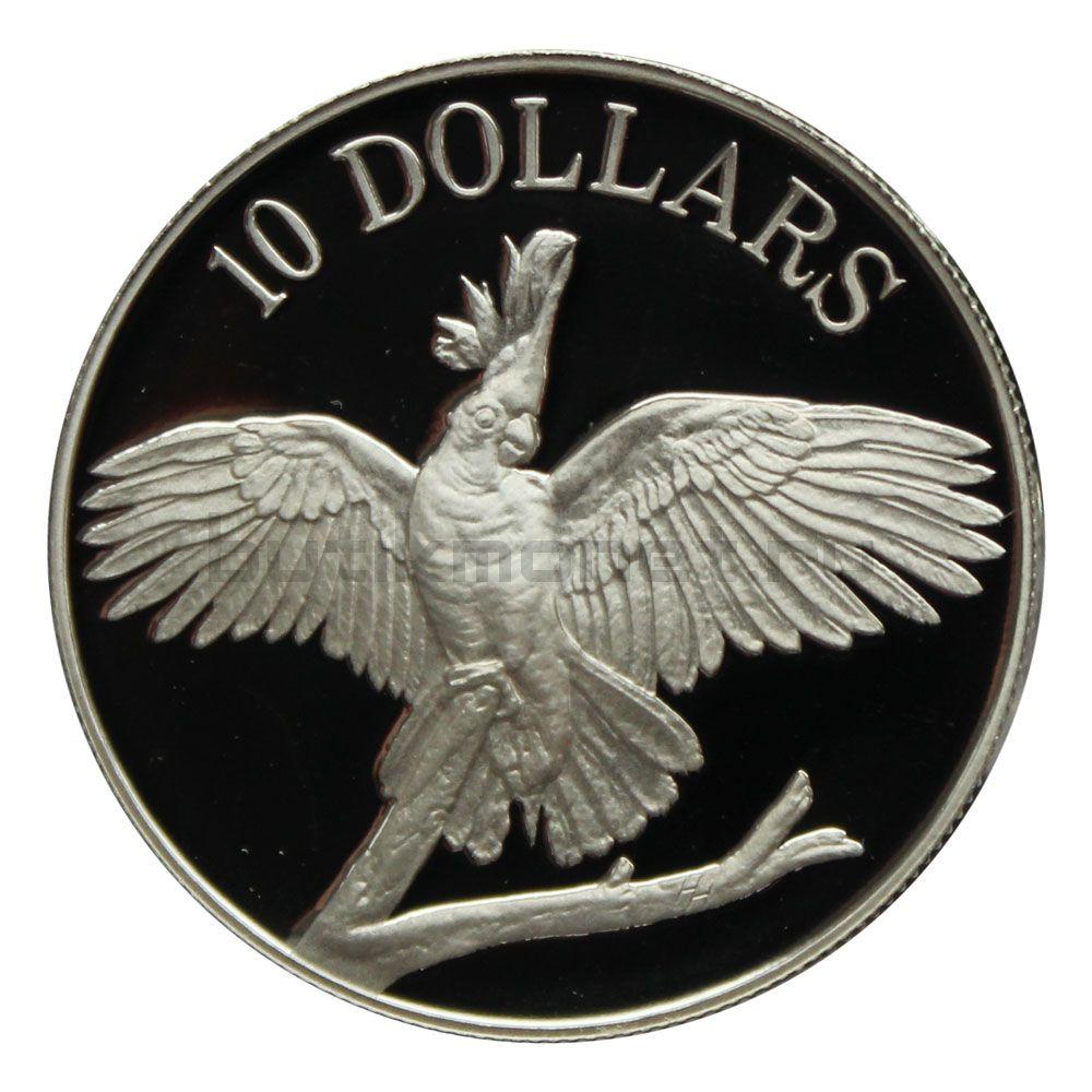 10 долларов 1990 Австралия Какаду