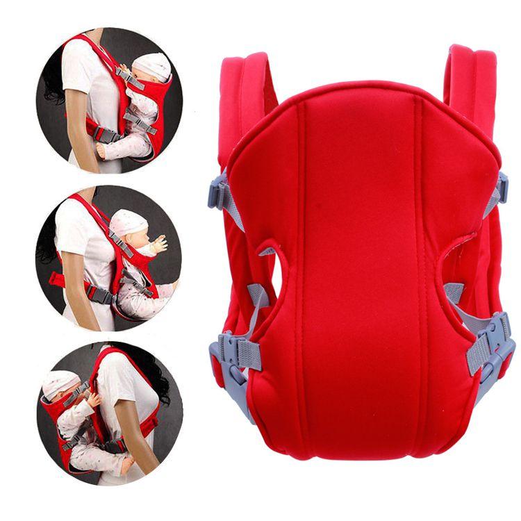 Рюкзак-кенгуру для детей от 3 до 16 месяцев (цвет красный)