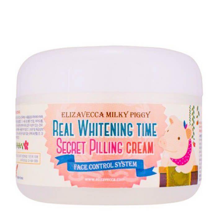 Осветляющий крем для лица ЭФФЕКТ ПИЛИНГА Elizavecca Real Whitening Time Secret Pilling Cream, 100 гр