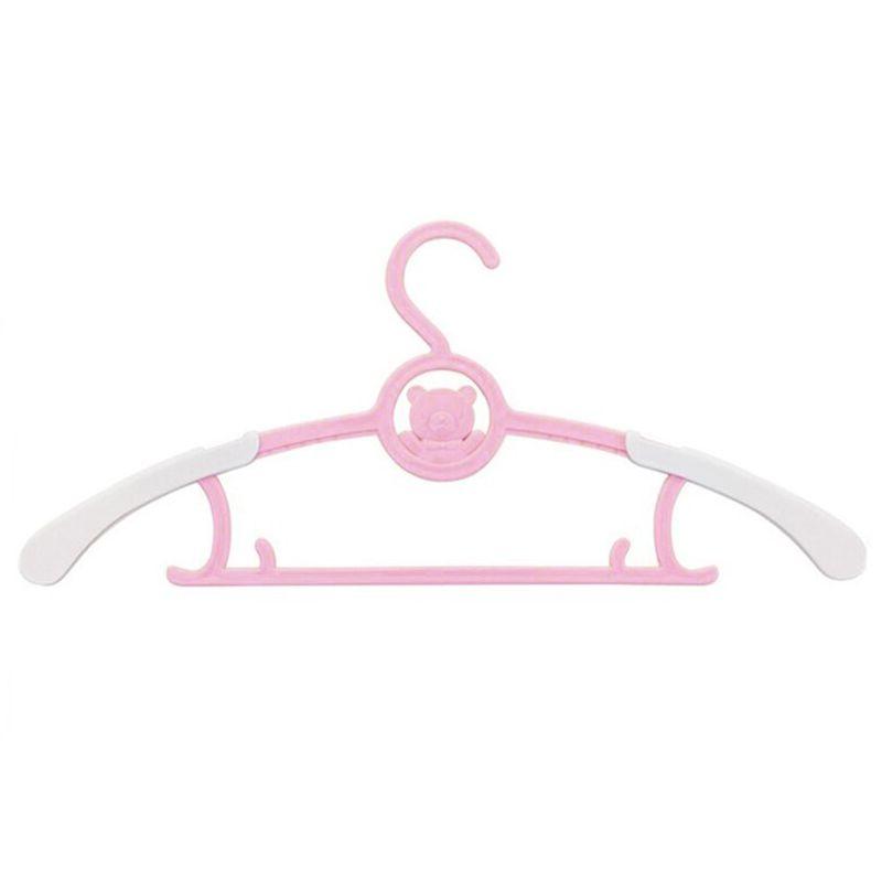 Вешалка-плечики для детской одежды с раздвижным механизмом, цвет розовый