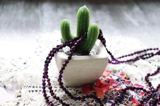 Бусины стеклянные, граненый биконус, нитка 40 см, цвет 612, Фиолетовый металлик