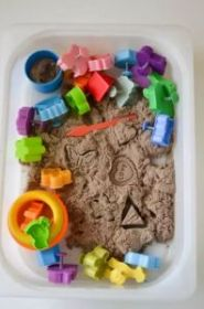 Кинетический песок в контейнере 2кг