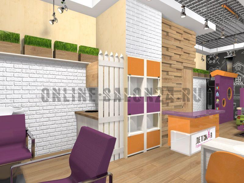 Дизайн проект Сеть детских парикмахерских Чижик Стрижик