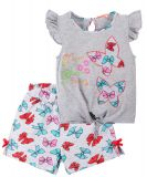 Летний костюм для девочек Bonito серый бабочки
