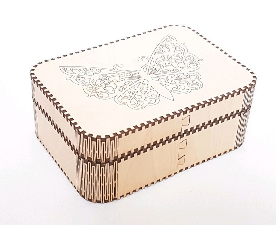 Коробка с откидной крышкой из дерева
