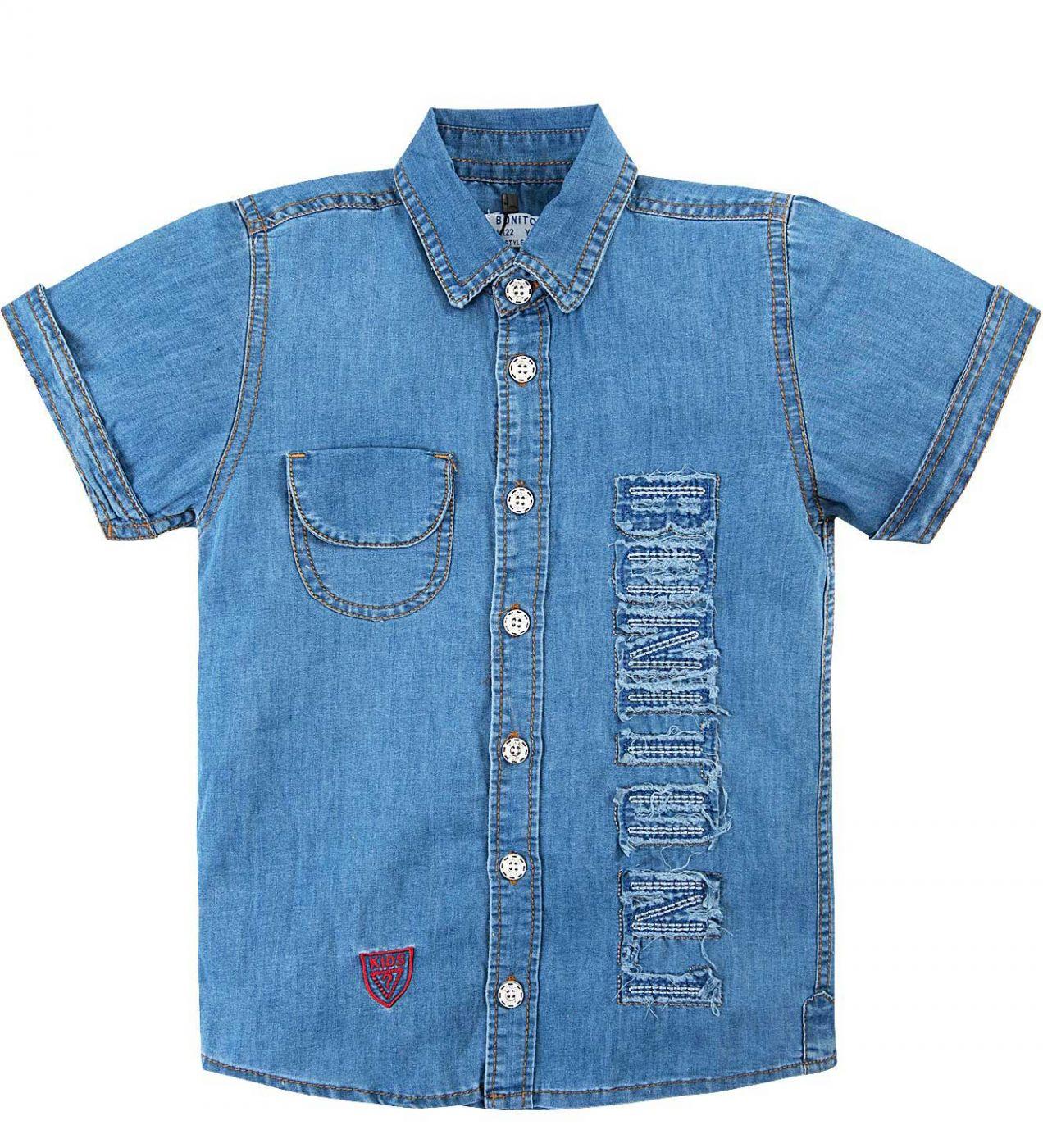 Джинсовая рубашка для мальчика Bonito Jeans голубой