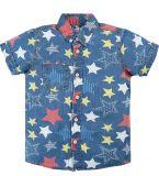 Джинсовая рубашка для мальчика Bonito Jeans голубая со звездами