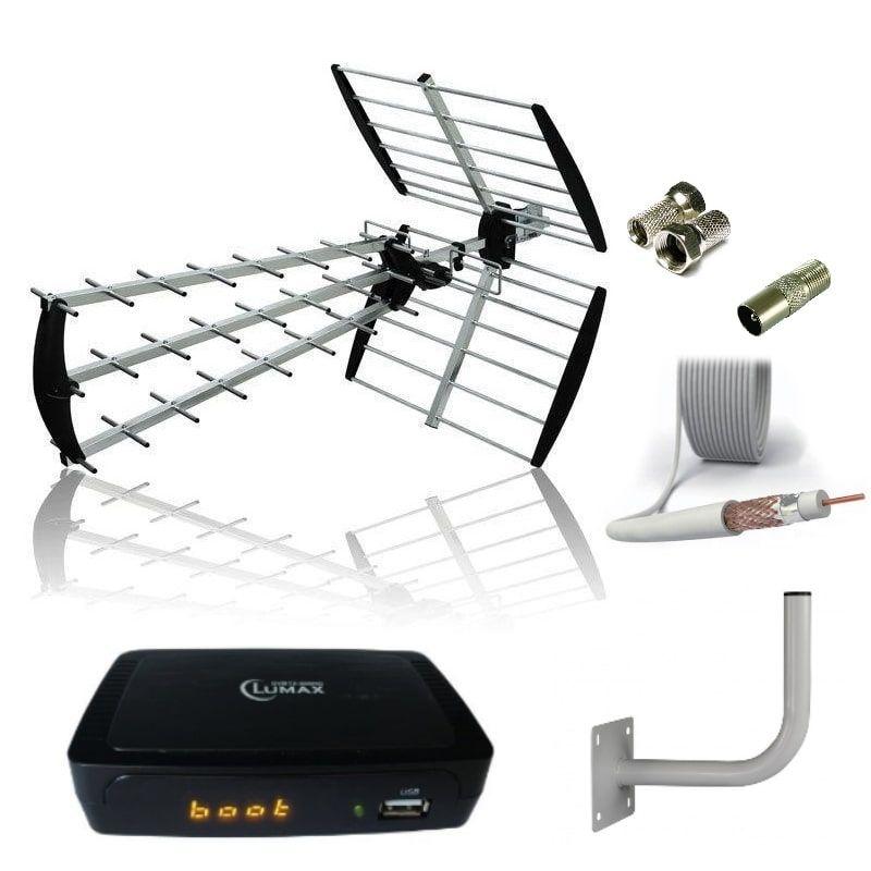 Комплект для цифрового ТВ DVB-T2 Дача-2 до 50-80 км