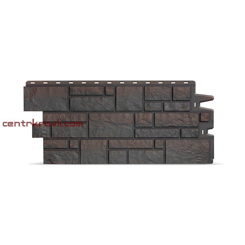 Фасадные панели под камень BURG (темный)