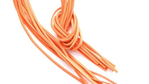 Шнур замшевый, 3*2 мм, Цвет №33, Светло-оранжевый, 1 м/упак