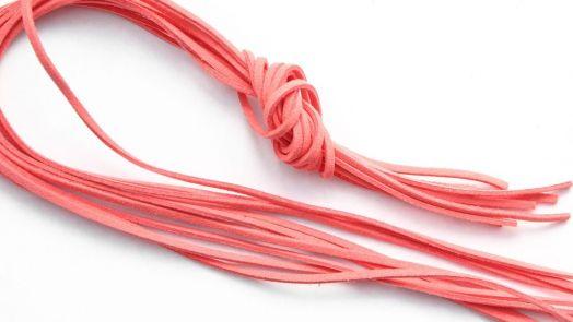 Шнур замшевый, 3*2 мм, Цвет №28, Коралл, 1 м/упак