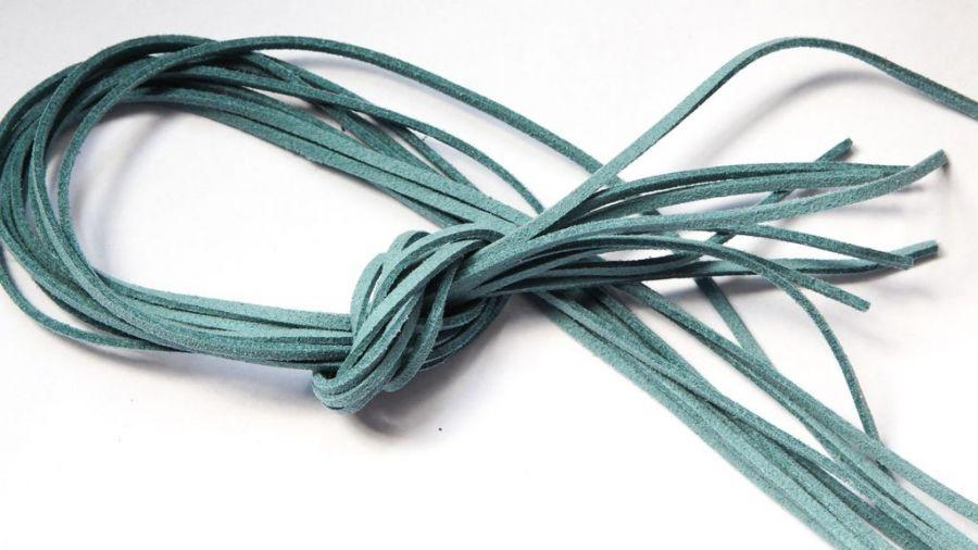 Шнур замшевый, 3*2 мм, Цвет №56, Винтажный синий, 1 м/упак