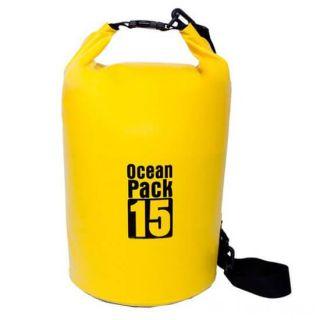 Водонепроницаемая сумка-мешок Ocean Pack, 15 L, Цвет: Желтый